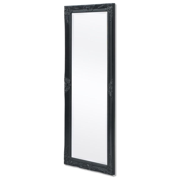 Black Baroque Styled Wall Mirror - 140 x 50 cm