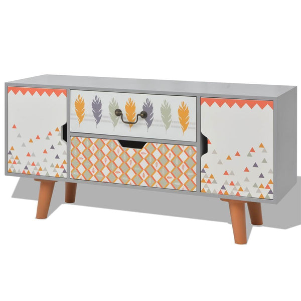 Grey Sideboard Table - 100 x 30 x 50 cm