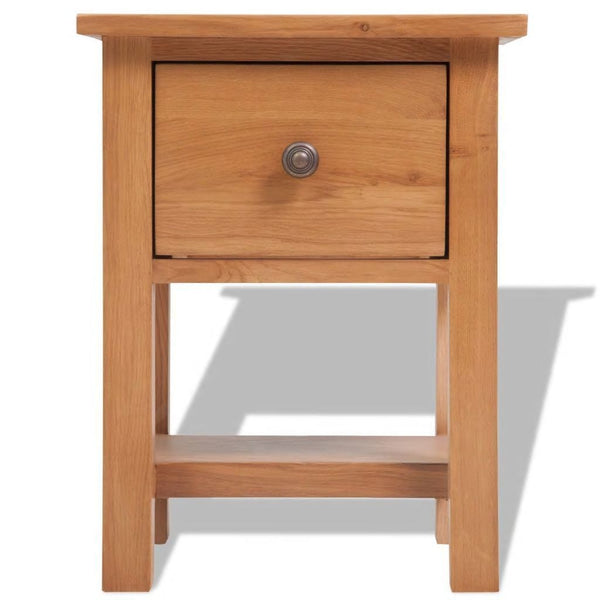 Solid Oak Bedroom Nightstand