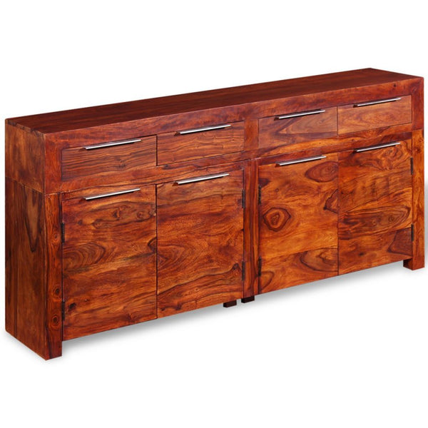 Solid Sheesham Wood Sideboard - 160 x 35 x 75 cm
