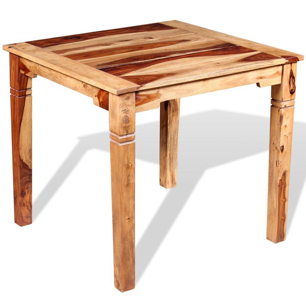 Solid Sheesham Wood Dining Table - 82 x 80 x 76 cm