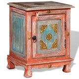 Orange Solid Mango Wood Nightstand