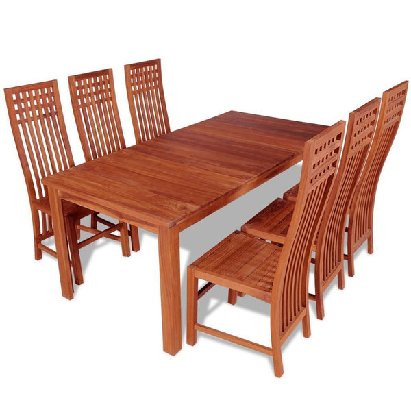 Seven Piece Solid Teak Dining Set
