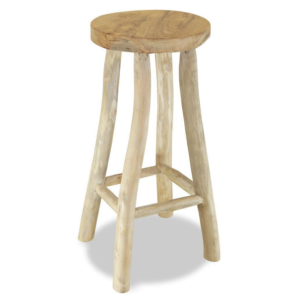 Teak Brown Bar Stool