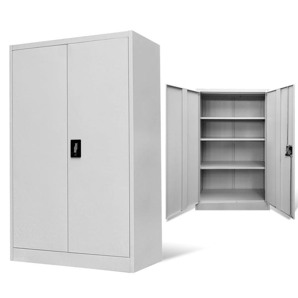 Grey Steel Office Cabinet