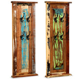 Set of 2 Solid Reclaimed Wood Coat Racks - 38x100 cm