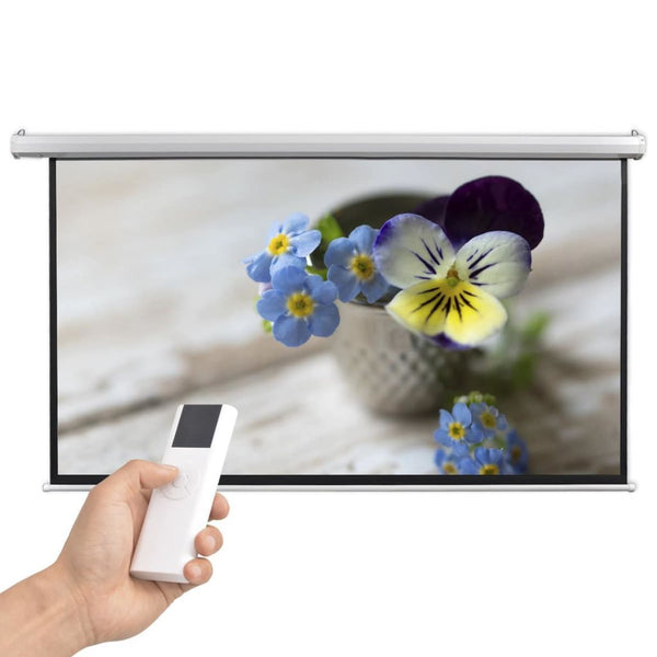 Electric Projector Screen with Remote Control 200x113 cm 16:9