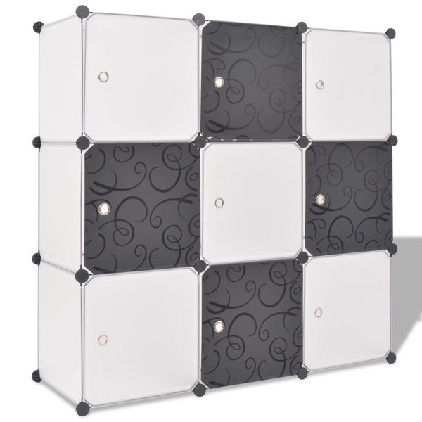 Black & White 9 Cube Storage Organiser