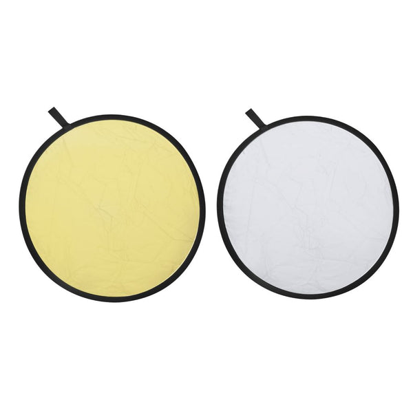 2-in-1 Gold and Silver Photography Reflector Backdrop - 80 cm