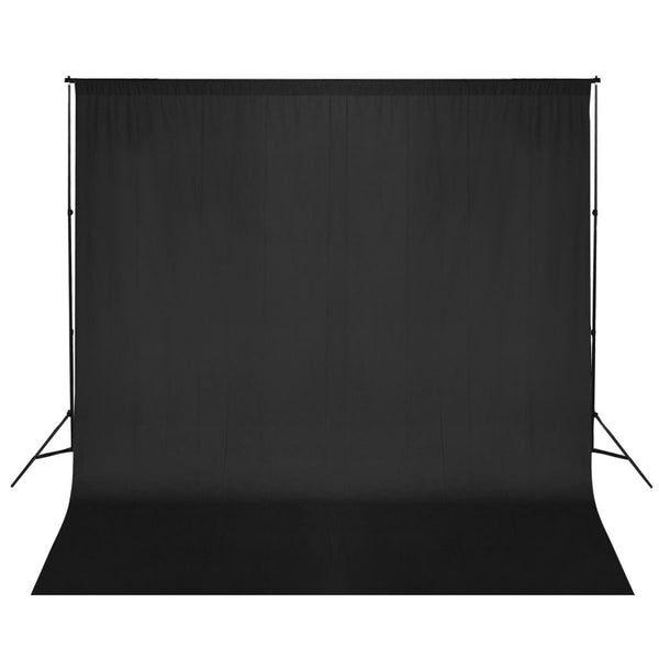 Black Photo Backdrop Support System 600 x 300 cm