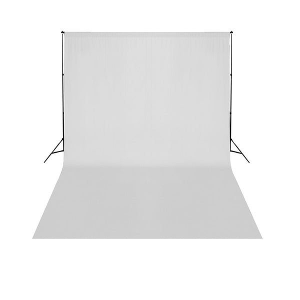 Telescopic Background Support System + White Backdrop 3 x 5 m