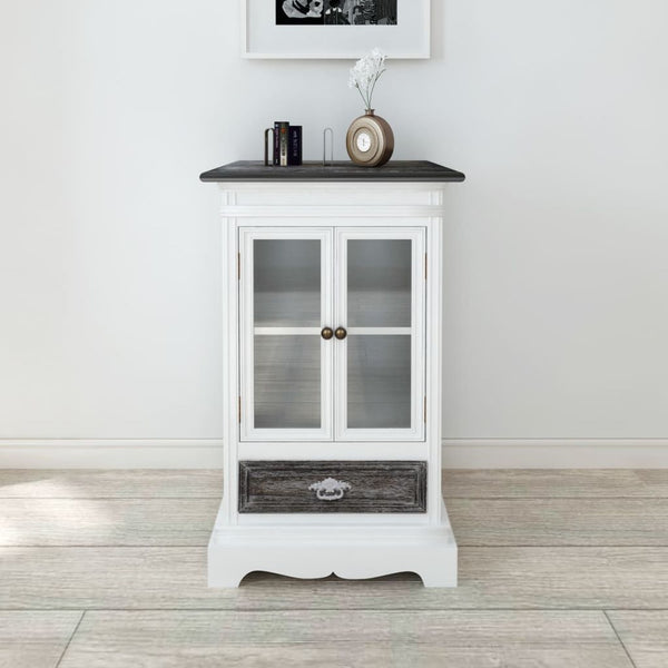 White Wooden Side Cabinet