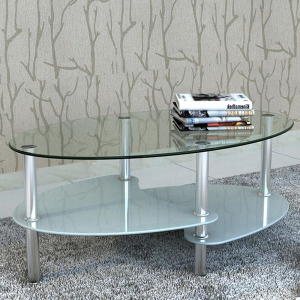 White 3-layer Coffee Table