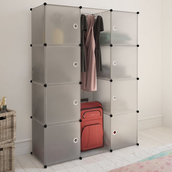 White Modular Cabinet - 9 Compartments