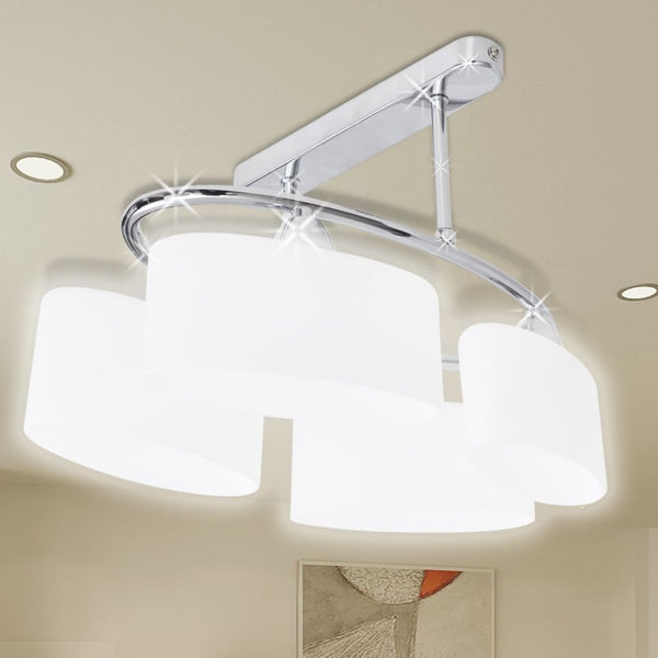 Ellipsoid Glass Shade Ceiling Lamp