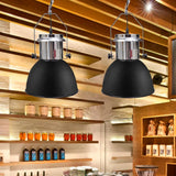 Set of 2 Modern Black Metal Ceiling Lamps