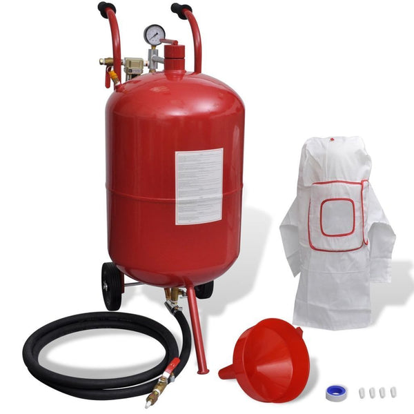 Portable Sand Blaster with Pressure Gauge - 76 L