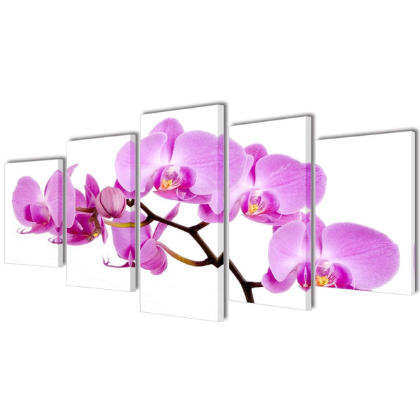 Orchid Canvas Wall Print Set - 200 x 100 cm