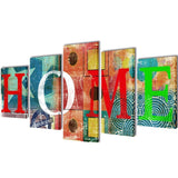 Home Design Canvas Wall Print Set Colourful - 100 x 50 cm
