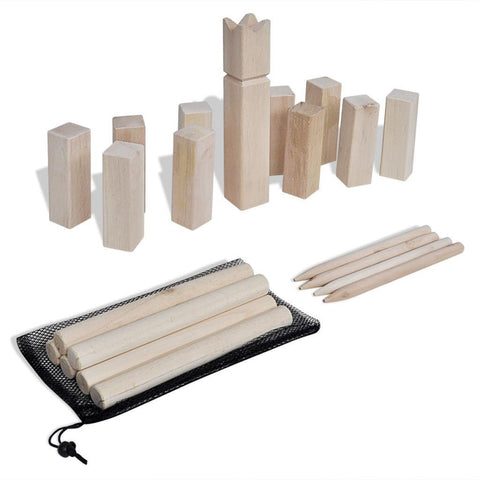 Wooden Kubb Game Set