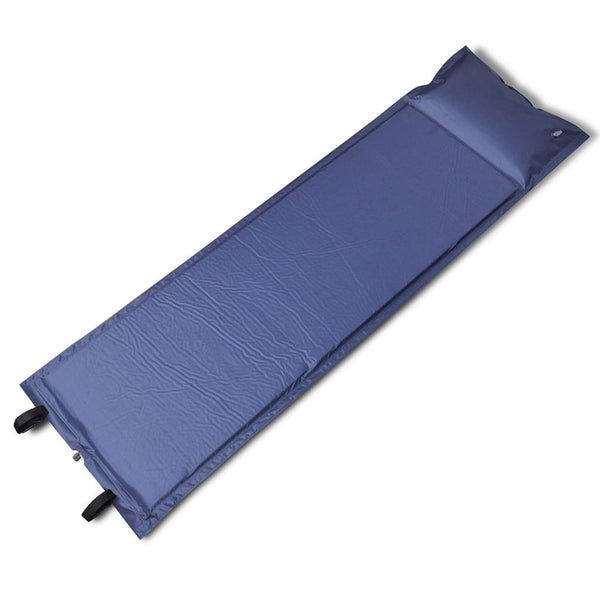 Blue Self-inflating Sleeping Mat 185 x 55 x 3 cm (Single)