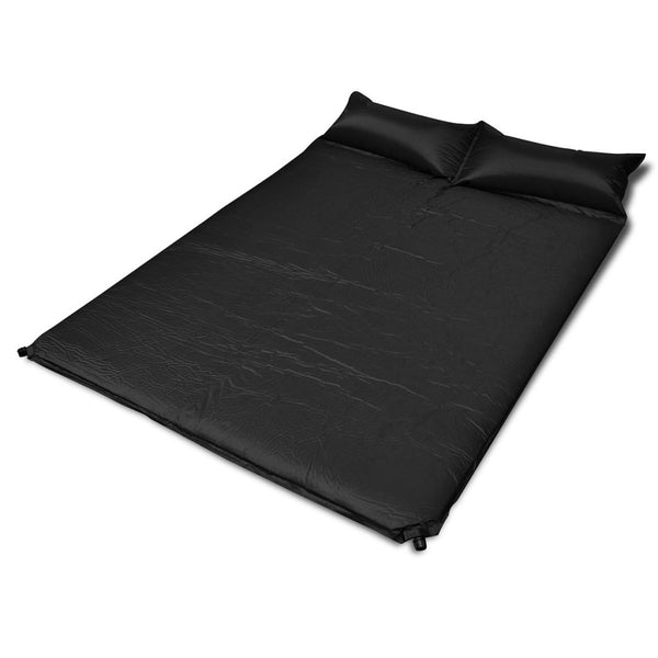 Black Self-inflating Sleeping Mat 190 x 130 x 5 cm (Double)