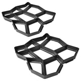 Set of 2 Pavement Mold for the Garden 42 x 42 x 4 cm