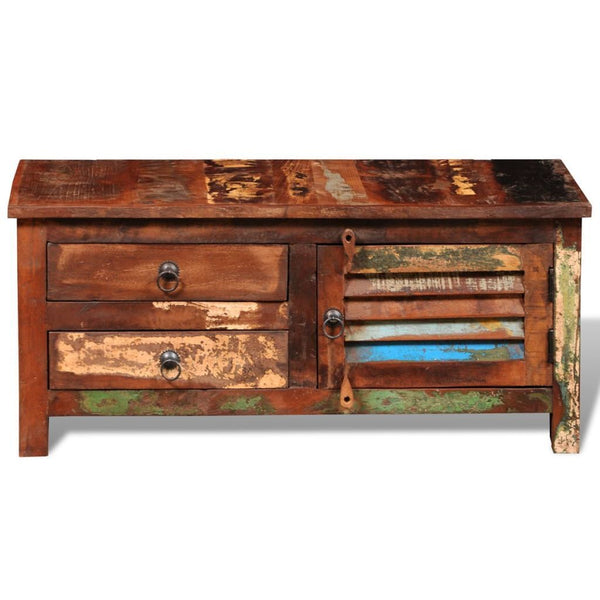Solid Reclaimed Wood TV Cabinet
