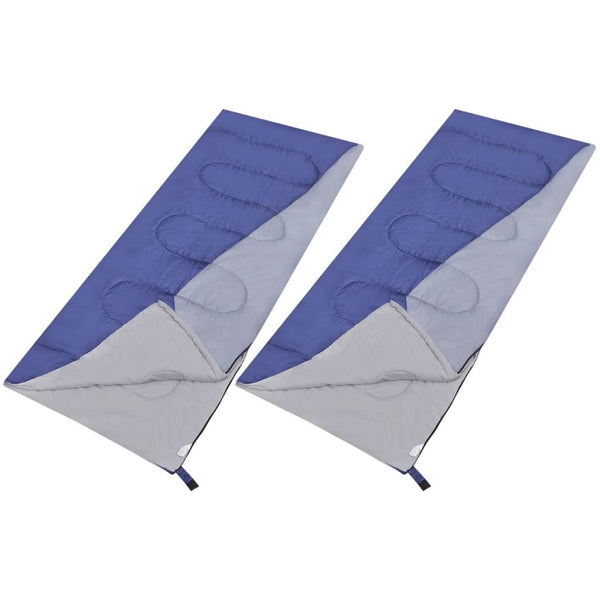 Set of 2 Rectangular Lightweight Sleeping Bags
