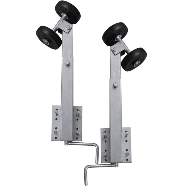 Set of 2 Boat Trailer Double Roller Bow Support 59 - 84 cm