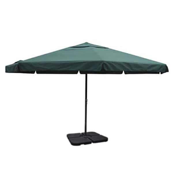 Aluminium Umbrella with Portable Base Green
