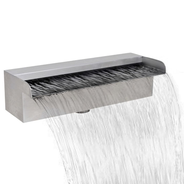 Stainless Steel Rectangular Waterfall Fountain - 30 cm