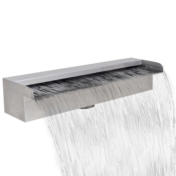 Stainless Steel Rectangular Waterfall Fountain - 45cm