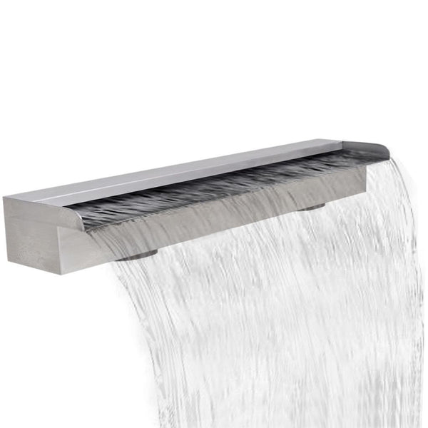 Stainless Steel Rectangular Waterfall Fountain - 90 cm
