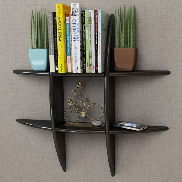Black Floating Wall Display Shelf