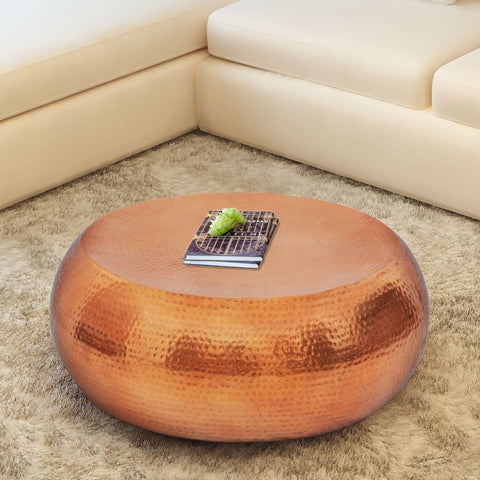 Copper Hammered Aluminium Coffee Table Side