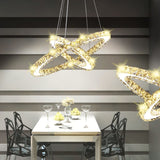 Double Ring LED Crystal Pendant Lamp