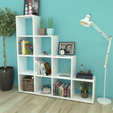White Staircase Bookcase/Display Shelf - 142 cm