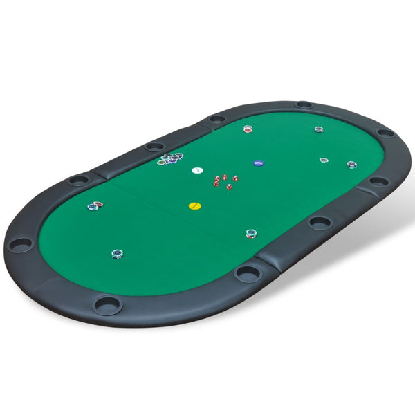 10 Player Foldable Poker Tabletop