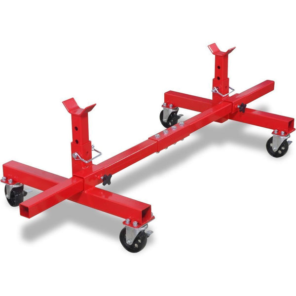 Red Mobile Axle Stand