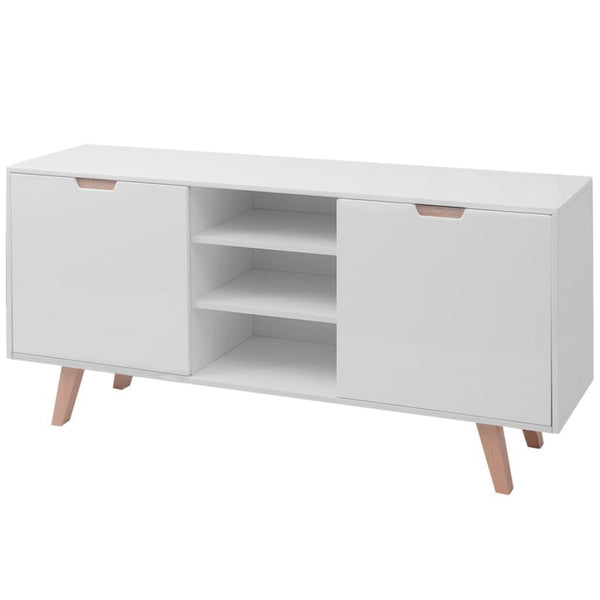 White High Gloss Sideboard - 150 x 40 x 73 cm