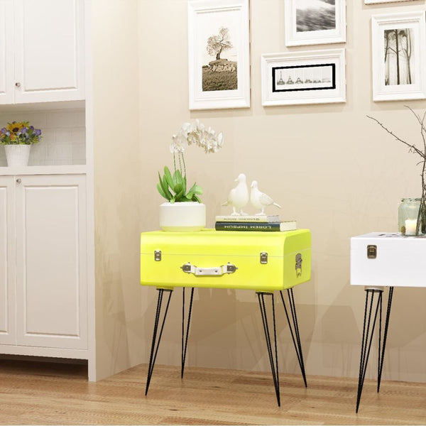 Yellow Side Cabinet