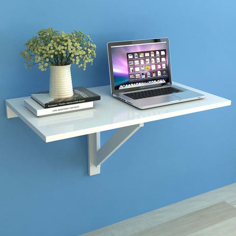White Folding Wall Table - 100 x 60 cm