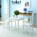 Three Piece White Pinewood Dining Set