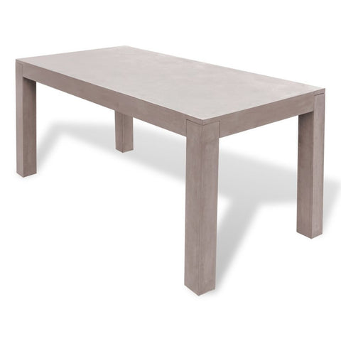 Concrete Rectangular Outdoor Dining Table