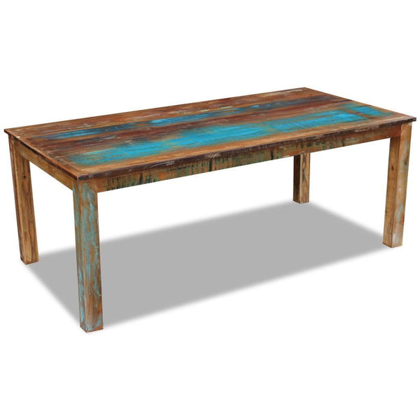 Solid Reclaimed Wood Dining Table - 200 x 100 x 76 cm