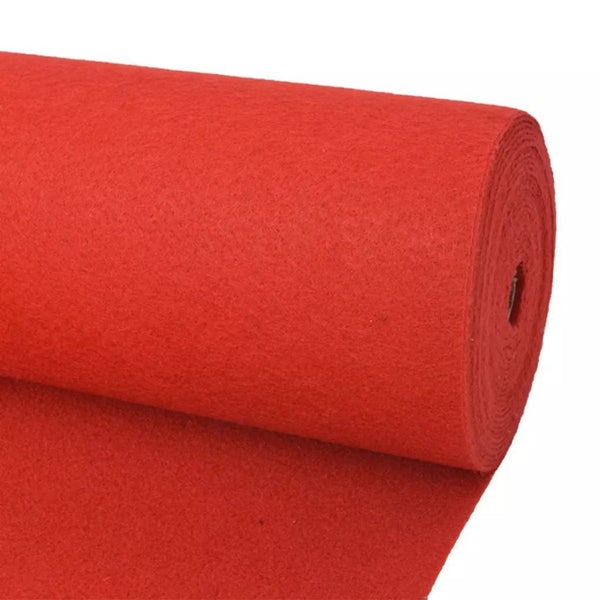 Red Exhibition Carpet Plain 2x12 m