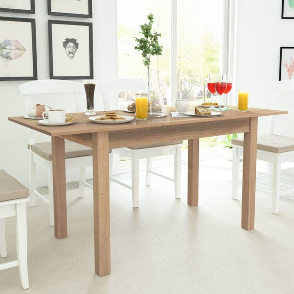 Light Brown Extending Dining Table - 120/160 x 70 x 76.5 cm