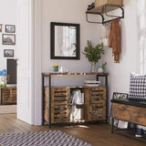 Rustic Brown Floor Standing Cabinet