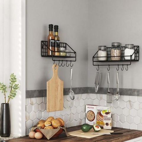 Industrial Metal Wall Shelves